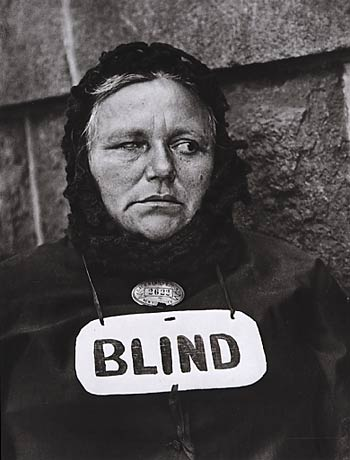Blind woman New-York 1916