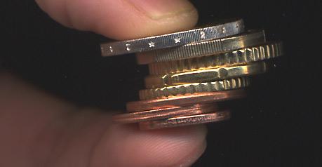 Euros : les pièces