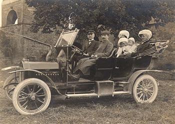 La voiture de la famille, en 1910